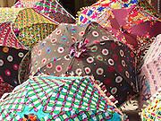 Embroidered umbrellas (used as sunshades), Amber, Rajasthan.