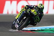 #46 Valentino Rossi, Italian: Movistar Yamaha MotoGP cuts the final corner during the Motul Dutch TT MotoGP, TT Circuit, Assen, Netherlands on 29 June 2019.