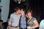 Scot Gill; John Barrowman; Carol Barrowman, After party for  La Cage Aux Folles which opened at the Playhouse Theatre. Jewel. Maiden Lane. Covent Garden. London. 5 October 2009