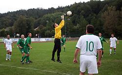 Goalkeeper  Andrej Malek  at friendly football game between famous Slovenians at day of Fair play, on September 21, 2008 in Kodeljevo, Ljubljana, Slovenia. (Photo by Vid Ponikvar / Sportal Images)