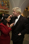 Boris Johnson and his wife Marina. The Leader's Dinner ( Michael Howard's ) Banqueting House. Whitehall. London. November 2005.