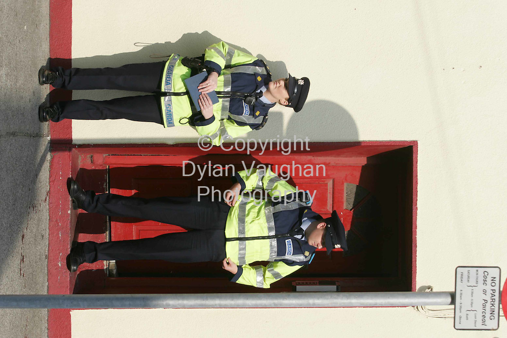 8/9/2004..Gardai pictured at the scene on Barrack Street in Waterford ...Picture Dylan Vaughan