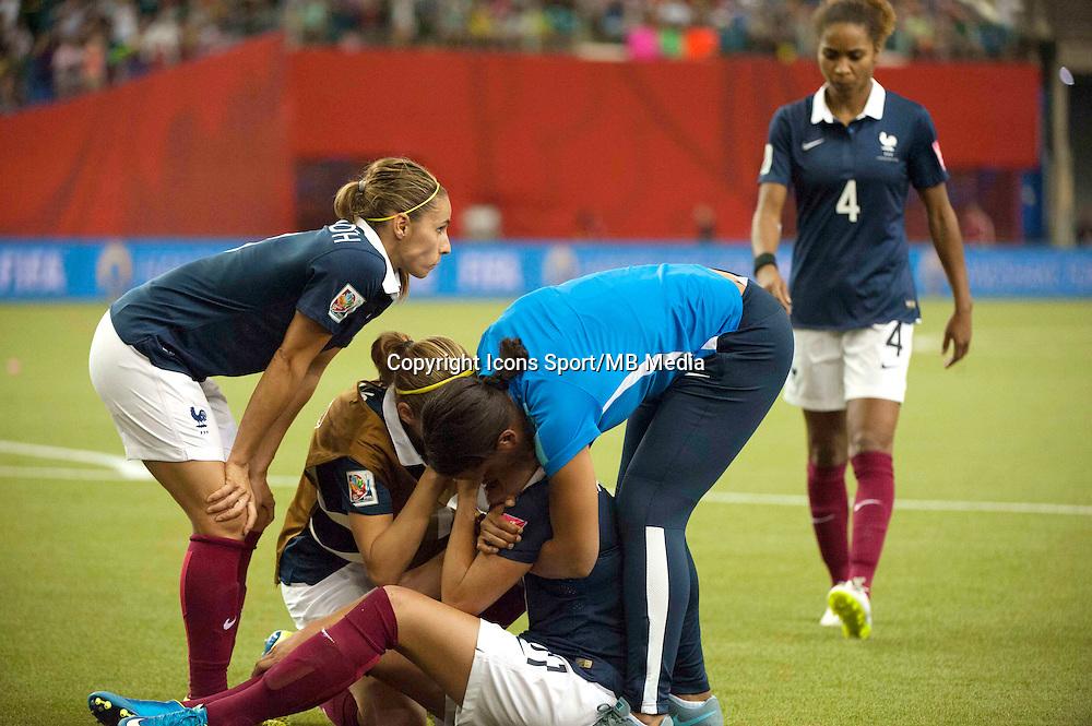 Deception France - Claire LAVOGEZ - 26.06.2015 - Allemagne / France - 1/4Finale Coupe du Monde 2015 -Montreal<br />Photo : Catherine Legault / Icon Sport