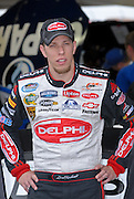 Brad Keselowski in the pits waiting for the start of the Kroger 250 NASCAR race at Memphis Motorsports Park. He actually won the race, and was the last race before they announced the closing of Memphis Motorsports Park Oct 2009.