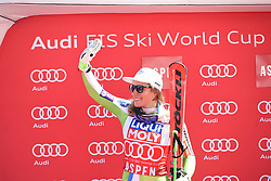 16.03.2017, Aspen, USA, FIS Weltcup Ski Alpin, Finale 2017, SuperG, Damen, Siegerehrung, im Bild Ilka Stuhec (SLO) // Ilka Stuhec of Slovenia during the winner presentation for the ladie's Super-G of 2017 FIS ski alpine world cup finals. Aspen, United Staates on 2017/03/16. EXPA Pictures © 2017, PhotoCredit: EXPA/ Erich Spiess