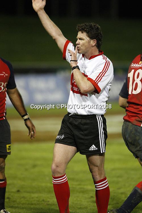 Match Referee Brent Murray. Tasman v Southland. Air New Zealand Cup rugby match. Lansdowne Park, Blenheim. Friday 19 September 2008. Photo: PHOTOSPORT