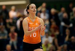 26-04-2008 VOLLEYBAL: DELA MARTINUS - AMVJ: AMSTELVEEN<br /> Martinus landskampioen 2007-2008 - Janneke van Tienen<br /> &copy;2008-WWW.FOTOHOOGENDOORN.NL