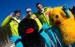Miha Kuerner, Matic Skube and Janez Jazbec during media day of Slovenian Alpine Ski team on October 17, 2011, in Rudno polje, Pokljuka, Slovenia. (Photo by Vid Ponikvar / Sportida)