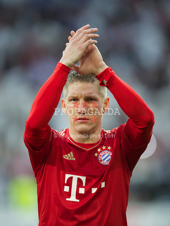 MADRID, SPAIN - Wednesday, April 25, 2012:  FC Bayern Munchen's Bastian Schweinsteiger before the UEFA Champions League Semi-Final 2nd Leg match against Real Madrid at the Estadio Santiago Bernabeu. (Pic by David Rawcliffe/Propaganda)
