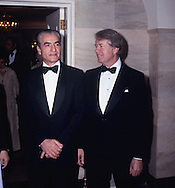 President Carter and the Shah of Iran at a State Dinner for the  Shah of Iran on November 15, 1977.<br /> Photo by Dennis Brack