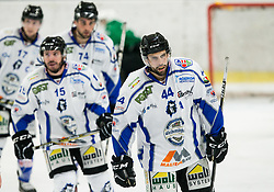 Hannes Oberdorfer  of Broncos  (R) during ice hockey match between HK SZ Olimpija and WSV Sterzing Broncos Weihenstephan (ITA) in Round #12 of AHL - Alps Hockey League 2018/19, on October 30, 2018, in Hala Tivoli, Ljubljana, Slovenia. Photo by Vid Ponikvar / Sportida