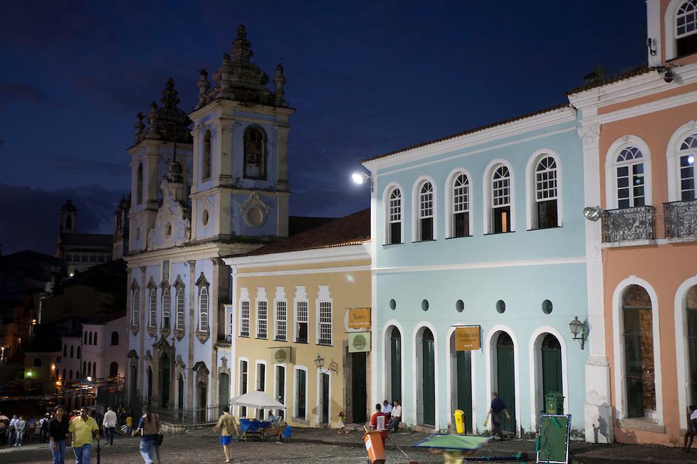 Salvador_ BA, Brasil.<br /> <br /> Igreja do Rosario dos Pretos, localizada no largo do Pelourinho, Centro Historico de Salvador (CHS), Bahia.<br /> <br /> Rosario dos Pretos church, located in Pelourinho in Historic Center of Salvador, Bahia.<br /> <br /> <br /> Foto: MARCUS DESIMONI / NITRO