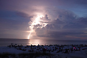 Lightening on the beach, San Destin Florida - © Karen Pulfer Focht-ALL RIGHTS RESERVED-NOT FOR USE WITHOUT WRITTEN PERMISSION