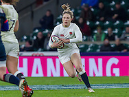 Lydia Thompson in action, England Women v France Women in a 6 Nations match at Twickenham Stadium, London, England, on 4th February 2017 Final Score 26-13.