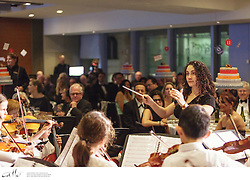 The Sydney Youth Orchestras held a gala 40th birthday dinner at the Hilton, attended by present and past members of the orchestra, sponsors, patrons, and Her Excellency Professor Marie R Bashir, Governor of New South Wales.