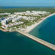 Aerial view of the Beloved hotel Playa Mujeres.
