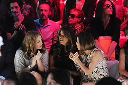 Jennifer Lopez and Eva Longoria Parker at the Diane Von Furstenberg Spring 2009 Collection during Mercedes Benz Fashion Week Spring 2009 at Bryant Park in New York City, USA on September 7, 2008. Photo by David Miller/ABACAPRESS.COM  | 163057_07 New York City
