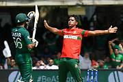 Wicket - Mohammad Saifuddin of Bangladesh celebrates taking the wicket of Babar Azam of Pakistan during the ICC Cricket World Cup 2019 match between Pakistan and Bangladesh at Lord's Cricket Ground, St John's Wood, United Kingdom on 5 July 2019.