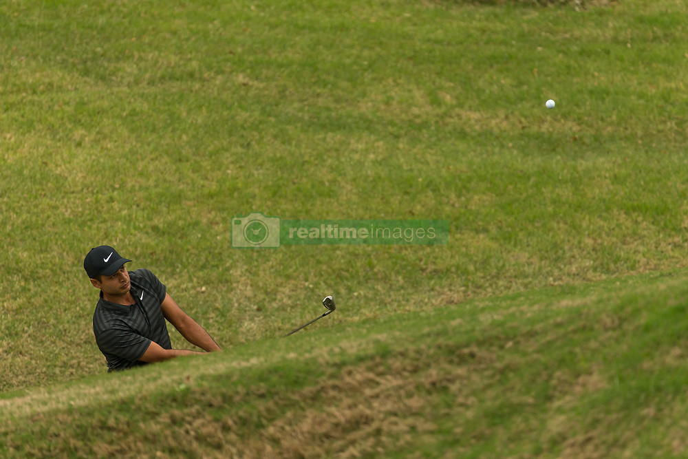 March 23, 2018 - Austin, TX, U.S. - AUSTIN, TX - MARCH 23:  Julian Suri hits out of a deep grass bunker during the WGC-Dell Technologies Match Play Tournament on March 22, 2018, at the Austin Country Club in Austin, TX.  (Photo by David Buono/Icon Sportswire) (Credit Image: © David Buono/Icon SMI via ZUMA Press)