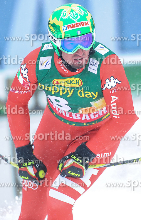 22.02.2015, Schneekristall Zwolfer Weltcupstrecke, Saalbach Hinterglemm, AUT, FIS Weltcup Ski Alpin, Super G, Herren, im Bild Dominik Paris (ITA) // Dominik Paris of Italy reacts after his run for the men's SuperG of the Saalbach FIS Ski Alpine World Cup at the Schneekristall Zwolfer course in Saalbach Hinterglemm, Austria on 2015/02/22. EXPA Pictures © 2015, PhotoCredit: EXPA/ Erich Spiess
