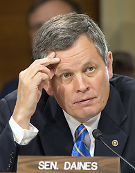 June 20, 2017 - Washington, District of Columbia, United States of America - United States Senator Steven Daines (Republican of Montana) questions US Secretary of the Interior Ryan Zinke as he appears before the United States Senate Committee on Energy and Resources on the President's budget request for the Department of the Interior for Fiscal Year 2018 on Capitol Hill in Washington, DC on Tuesday, June 20, 2017..Credit: Ron Sachs / CNP (Credit Image: © Ron Sachs/CNP via ZUMA Wire)