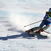 Winter Olympics, Vancouver, 2010.Kaylin Richardson, USA, in action in the Alpine Skiing Ladies Super Combined  during competition at Whistler Creekside, Whistler, during the Vancouver Winter Olympics. 18th February 2010. Photo Tim Clayton