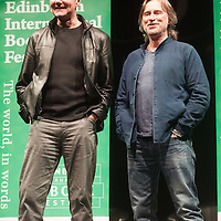 Novelist Irvine Welsh and actor Robert Carlyle at The Usher Hall, Edinburgh. 10th April 2016<br /> <br /> Picture by Alan McCredie/Writer Pictures<br /> <br /> WORLD RIGHTS