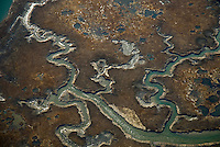 Aerial views of artistic patterns in the earth.