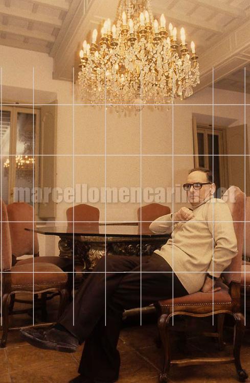 Rome, about 1985. Italian music composer Ennio Morricone / Roma, 1985 circa. Il compositore Ennio Morricone - © Marcello Mencarini