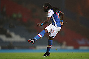 Blackburn Rovers striker, Marvin Emnes (17)  shoots during the EFL Sky Bet Championship match between Blackburn Rovers and Brighton and Hove Albion at Ewood Park, Blackburn, England on 13 December 2016.