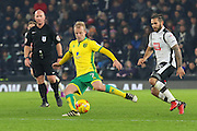 Norwich City forward Steven Naismith (7) clears the ball from Derby County midfielder Bradley Johnson (15) during the EFL Sky Bet Championship match between Derby County and Norwich City at the iPro Stadium, Derby, England on 26 November 2016. Photo by Aaron  Lupton.