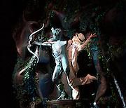 Sylvia<br /> Birmingham Royal Ballet <br /> choreography by David Bentley <br /> at the Birmingham Hippodrome, Birmingham, Great Britain<br /> rehearsal <br /> 23rd June 2015 <br /> <br /> <br /> <br /> Mathias Dingman as Eros<br />  <br /> <br /> <br /> <br /> Photograph by Elliott Franks <br /> Image licensed to Elliott Franks Photography Services