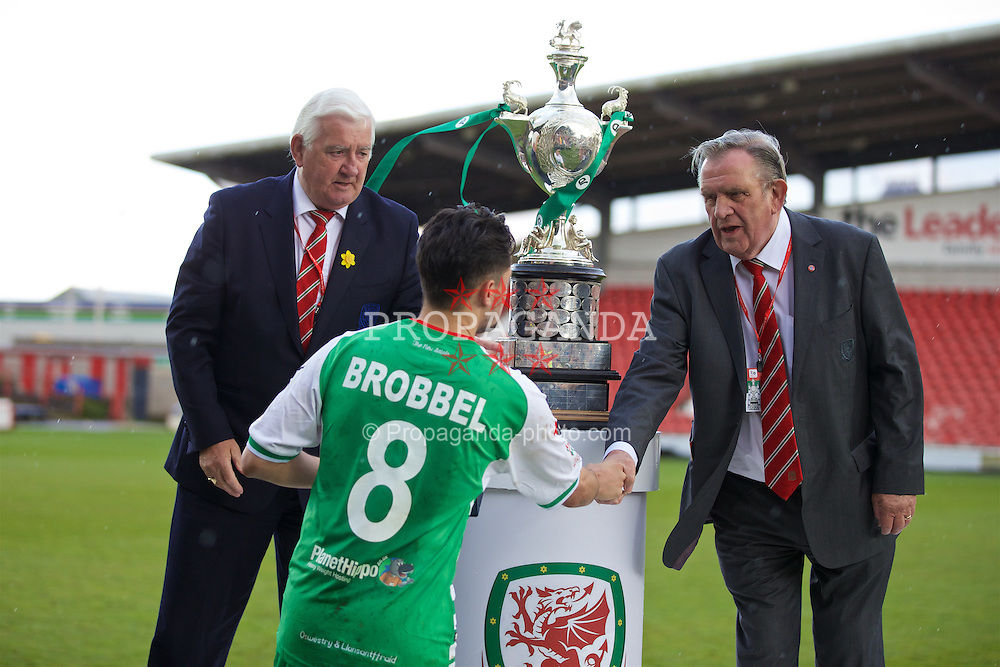 WREXHAM, WALES - Monday, May 2, 2016: FAW's Dai Alun Jones during the 129th Welsh Cup Final at the Racecourse Ground. (Pic by David Rawcliffe/Propaganda)