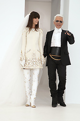 Presentation of the 2007 Fall-Winter Haute-Couture collection by German designer Karl Lagerfeld for French fashion house Chanel at 'Pelouse de Saint Cloud' near Paris, France, on July 6, 2006. Photo by Nebinger-Taamallah/ABACAPRESS.COM