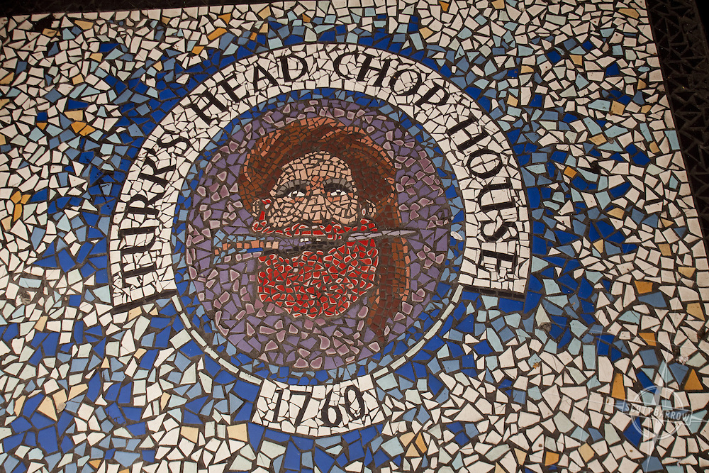 Mosaic in Turk's Head Chop House, Temple Bar area of Dublin Ireland.