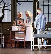 Ariadne auf Naxos- Glyndebourne Festival Opera, <br /> Directed by Katherine Thomas <br /> Set Design Julia Muer<br /> Lighting - Olaf Winter.<br /> <br /> Avery Amereau, Ruzan Mantashyan and Hyesang Park