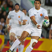 Maxime Mermoz, France, in action during the New Zealand V France Final at the IRB Rugby World Cup tournament, Eden Park, Auckland, New Zealand. 23rd October 2011. Photo Tim Clayton...