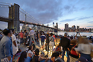 Crowd of people at the embankment,<br />