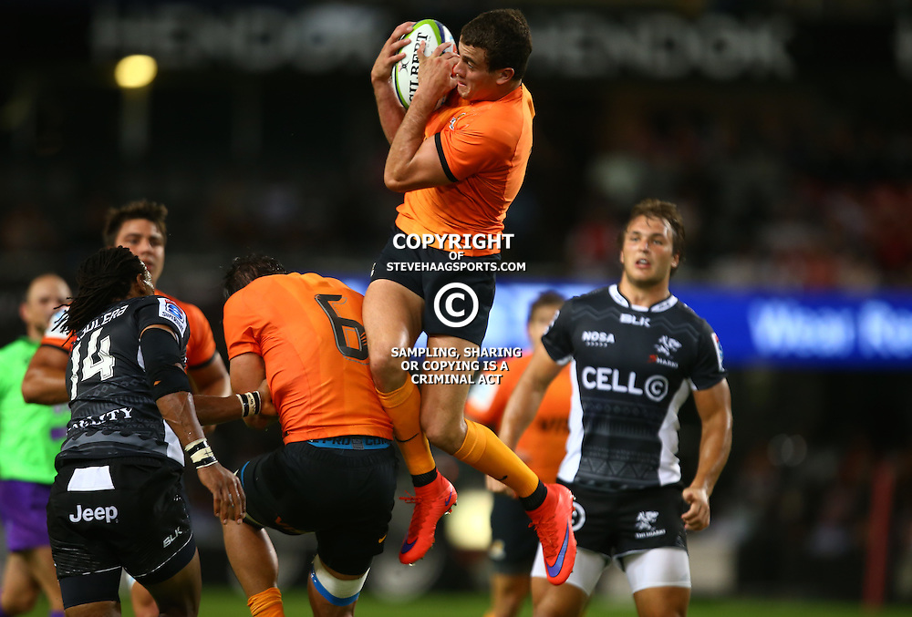 DURBAN, SOUTH AFRICA - MARCH 05: Emiliano Boffelli of the Jaguares during the 2016 Super Rugby match between Cell C Sharks and Jaguares at Growthpoint Kings Park Stadium on March 05, 2016 in Durban, South Africa. (Photo by Steve Haag/Gallo Images)