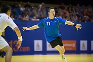 Handbal Heren EYOF 2013 Utrecht, Oostenrijk-Nederland (L-R): Niels Poot (ned)