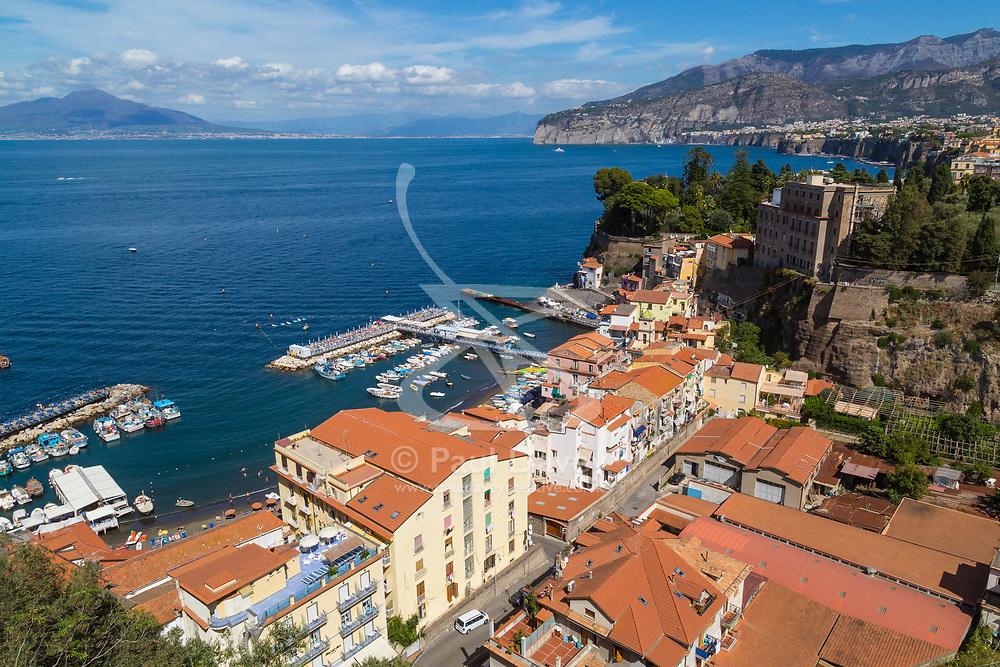 Sorrento, Italy, September 18 2017. An elevated view of Marina Grande, Sorrento, Italy. © Paul Davey