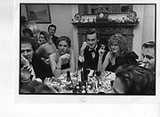 Peregrine Lascelles; Nicola Carter; Dominic Bolton; Fiona Hardy. party. 1987.  *** Local Caption *** -DO NOT ARCHIVE-© Copyright Photograph by Dafydd Jones. 248 Clapham Rd. London SW9 0PZ. Tel 0207 820 0771. www.dafjones.com.