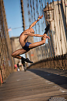 Dance As Art  New York City Photography Brooklyn Bridge Series with dancer, Daniel White