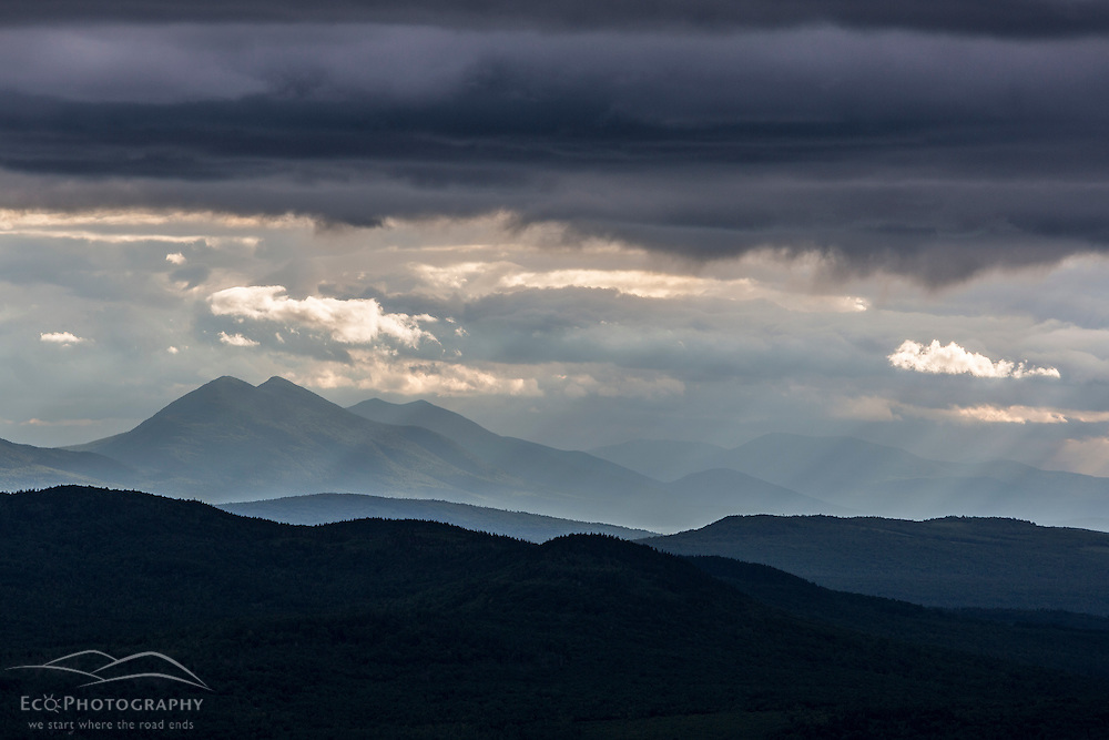 The Bigelow Range as seen from Moxie Bald Mountain and the Appalachian Trail. Bald Mountain Township, Maine.