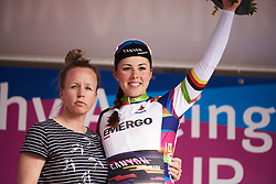 Lisa Klein (GER) wins the best young rider at Healthy Ageing Tour 2018 - Stage 5, a 94.3 km road race in Groningen on April 8, 2018. Photo by Sean Robinson/Velofocus.com