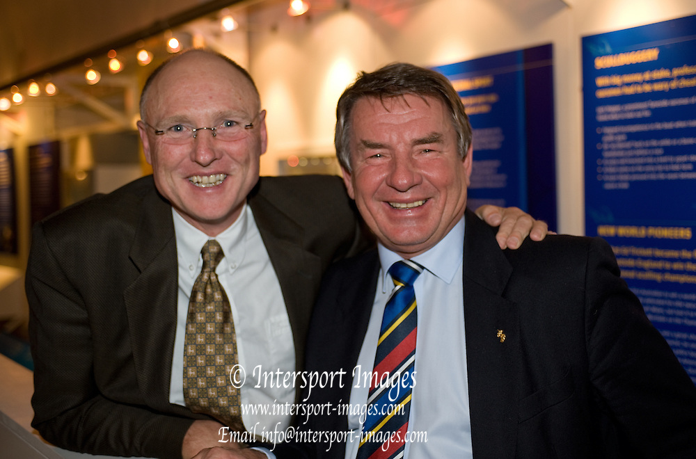 Henley on Thames, United Kingdom, GB Rowings' Head Coaches left Paul THOMPSON and Jürgen GROBLER,  FISA Coaches Conference, Gala Dinner held at the River and Rowing Museum. Henley on Thames, Saturday  22/01/2011 [Mandatory Credit Peter Spurrier/ Intersport Images]