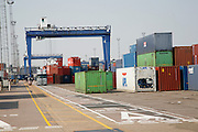 Port of Felixstowe, Suffolk, England. UK's busiest container port.