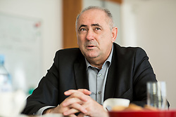 Interview with Radenko Mijatovic, president of NZS - Football Association of Slovenia and director of CETIS and EGP, on December 4, 2018 in EGP, Skofja Loka, Slovenia. Photo by Vid Ponikvar / Sportida