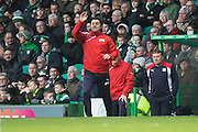 Dundee manager Paul Hartley - Celtic v Dundee in the Ladbrokes Scottish Premiership at Celtic Park, Glasgow. Photo: David Young<br /> <br />  - &copy; David Young - www.davidyoungphoto.co.uk - email: davidyoungphoto@gmail.com