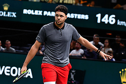 October 30, 2018 - Paris, Ile-de-France (region, France - Jo-Wilfried Tsonga (FRA) against Milos Raonic (CAN) at the Rolex Paris Masters at the AccorHotels Arena in Paris, France, le 30 octobre 2018 (Credit Image: © Julien Mattia/Le Pictorium Agency via ZUMA Press)